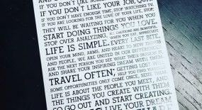 Tuyên ngôn sống – Holstee